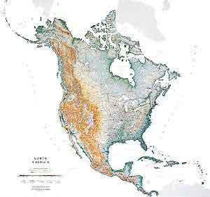 North America Raven USA Maps Free Maps Globe Globes Geo - Us map of states topographic