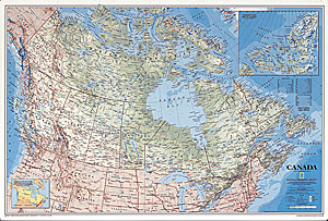 America south large wall map laminated by national geographic l canada map sciox Image collections